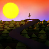 Cartoon Style Dream Scenery Concept Stock Images