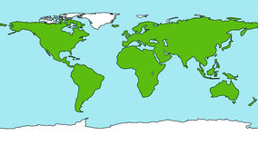 Cartoon style Earth map Stock Image