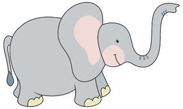 Cartoon style elephant illustration Stock Images