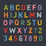 Cartoon Style Flat Color Alphabet. Vector. Illustration Royalty Free Stock Photo