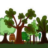Cartoon style forest Royalty Free Stock Photo
