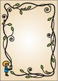 Cartoon style frame Stock Image