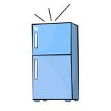 Cartoon style fridge drawing Royalty Free Stock Photo