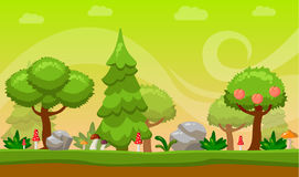 Cartoon style Game background. Vector illustration. Nature. Landscape. Sunlight. Cartoon Game background. Vector illustration. Nature Landscape Sunlight royalty free illustration