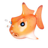 Cartoon style goldfish Royalty Free Stock Photos