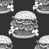 Cartoon style hamburgers Stock Image