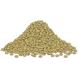 Cartoon style heap of gold coins Stock Photography