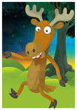 The cartoon style illustration - image for the children Royalty Free Stock Image