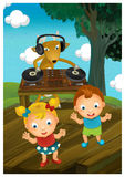 The cartoon style illustration - image for the children Royalty Free Stock Photography