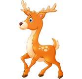 Cartoon style little deer Stock Photography