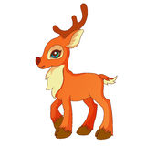 Cartoon style little deer Royalty Free Stock Image