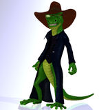 Cartoon style lizard Stock Image