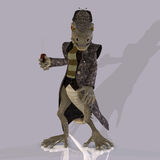 Cartoon style lizard Royalty Free Stock Photography