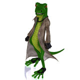 Cartoon style lizard Stock Images