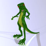Cartoon style lizard with a lovely Stock Photography