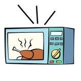 Cartoon style mocrowave oven Royalty Free Stock Photo