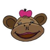 Cartoon style monkey head Stock Image