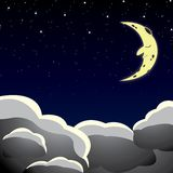 Cartoon style night sky Stock Photo