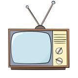 Cartoon style old TV Royalty Free Stock Photos