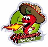 Cartoon style red hot pepper character with sombrero hat, hot sauce vector logo. Cartoon style red hot pepper character with sombrero hat, hot sauce vector logo royalty free illustration