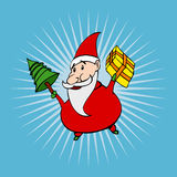 Cartoon style santa. Cartoon style happy santa claus Royalty Free Stock Photos
