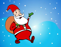 Cartoon style santa. Cartoon style happy santa claus Stock Image