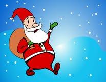 Cartoon style santa Stock Image