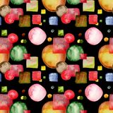 Cartoon style seamless pattern royalty free stock photography