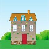 Cartoon style vector house. Stock Photography