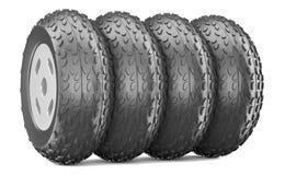 Cartoon-styled car wheels Stock Image