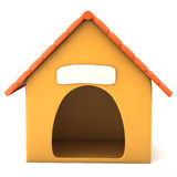 Cartoon styled doghouse. Isolated on white background. 3d illustration royalty free illustration