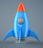 Cartoon-styled rocket Royalty Free Stock Photography