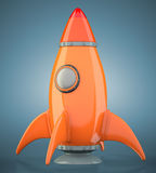 Cartoon-styled rocket Stock Image