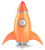 Cartoon-styled rocket Stock Photo