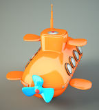 Cartoon-styled submarine Royalty Free Stock Photography