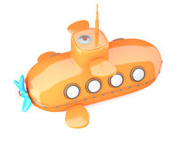Cartoon-styled submarine Royalty Free Stock Photos