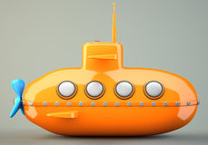 Cartoon-styled submarine Stock Photo