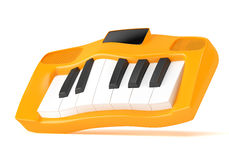 Cartoon styled synthesizer. Isolated on white background. 3d rendering Stock Image