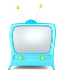 Cartoon styled tv Stock Photography