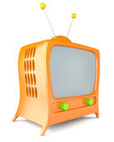 Cartoon styled tv Stock Images