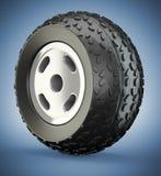 Cartoon-styled wheel Stock Photography