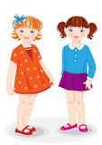 Cartoon stylish girls Royalty Free Stock Images