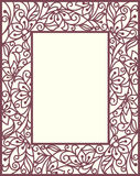 Stylization floral frame Stock Images