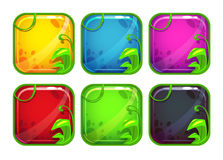 Cartoon stylized app icons with nature elements Royalty Free Stock Photography