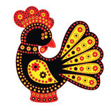 Cartoon stylized rooster Chinese style Royalty Free Stock Photos
