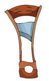Cartoon Stylized Wooden Guillotine. Stock Photography