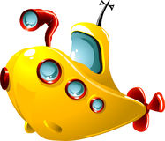 Cartoon submarine Royalty Free Stock Image