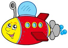 Cartoon submarine Stock Photography