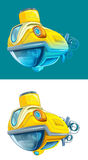 Cartoon submarine -  - illustration for the children Royalty Free Stock Photos