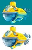 Cartoon submarine - isolated Stock Photo